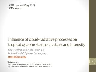 Influence of cloud-radiative processes on tropical cyclone storm structure and intensity