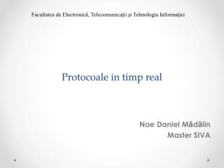 Protocoale in timp real