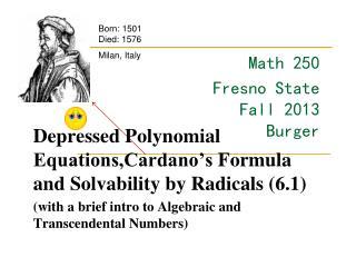 Math  250 Fresno State Fall 2013 Burger