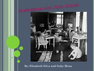 Montessori and Free Choice