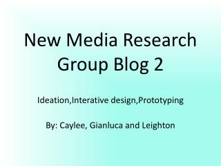 New Media Research Group Blog 2