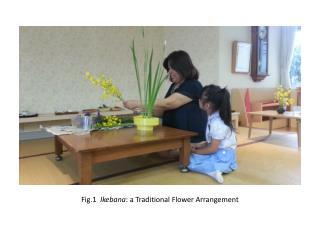 Fig.1   Ikebana : a Traditional Flower Arrangement