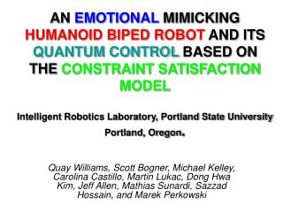 AN EMOTIONAL MIMICKING HUMANOID BIPED ROBOT AND ITS QUANTUM ...