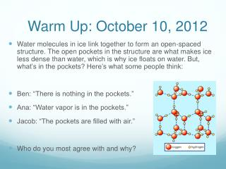 Warm Up: October 10, 2012