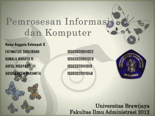 Pemrosesan Informasi dan Komputer
