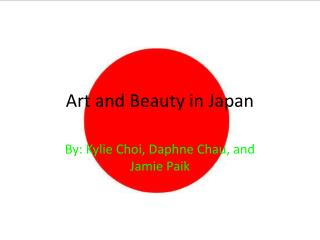 Art and Beauty in Japan