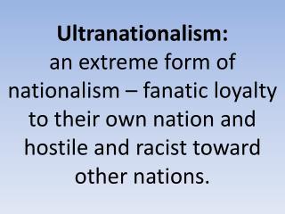 Ultranationalism :