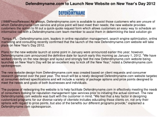 Defendmyname.com to Launch New Website on New Year's Day 201