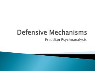 Defensive Mechanisms
