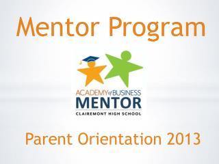Parent Orientation 2013