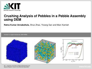 Crushing Analysis of Pebbles in a Pebble Assembly using DEM