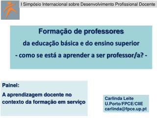 Formação de professores da educação básica e do ensino superior