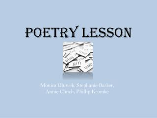 Poetry Lesson