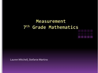 Measurement  7 th  Grade  Mathematics