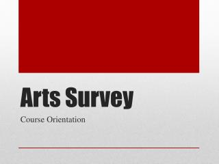 Arts Survey