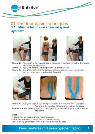 01 The  four basic techniques