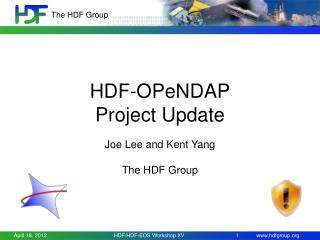 HDF- OPeNDAP Project Update