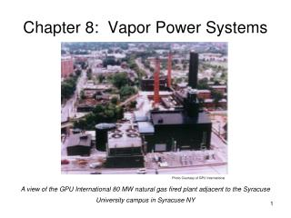 Chapter 8:  Vapor Power Systems