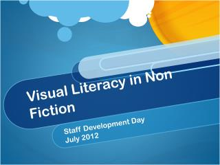 Visual Literacy in Non Fiction
