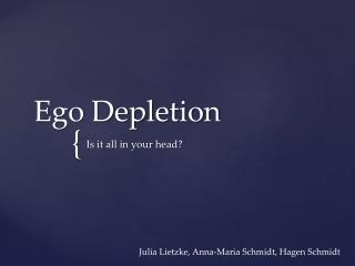 Ego  Depletion
