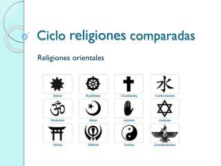 Ciclo  religiones  comparadas