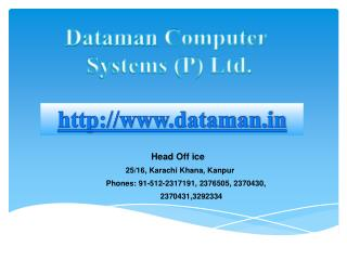 Dataman  Computer Systems (P) Ltd.