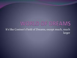 WORLD OF DREAMS