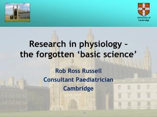 Research in physiology –  the forgotten 'basic science'