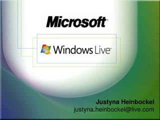 Justyna Heinbockel justyna.heinbockel@live.com