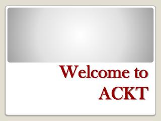 Welcome to  ACKT