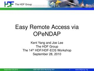 Easy Remote Access via OPeNDAP
