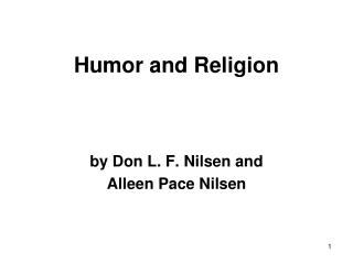 Humor and Religion