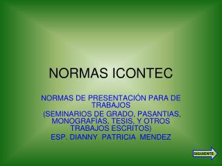 NORMAS ICONTEC