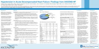 Hypotension in Acute Decompensated Heart Failure: Findings from  ASCEND-HF