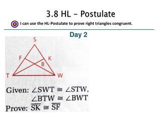 3.8 HL - Postulate