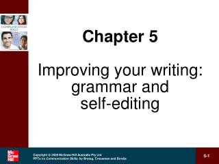 Improving your writing: grammar and self-editing