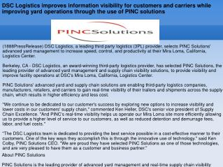 DSC Logistics improves information visibility for customers