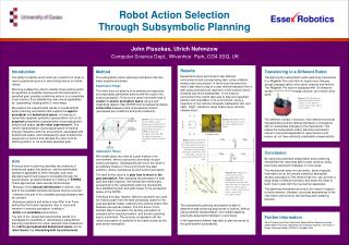 Robot Action Selection Through Subsymbolic Planning