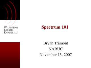 Spectrum 101