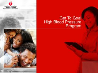 Get To Goal  High Blood Pressure Program