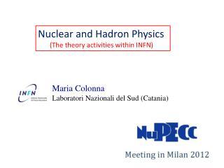 Nuclear  and  Hadron Physics (The  theory activities within  INFN)
