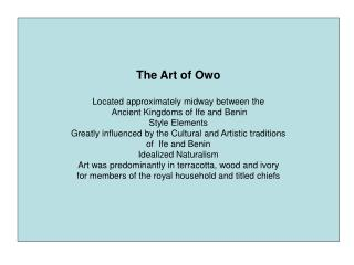 The Art of Owo