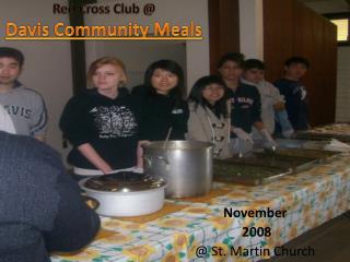 Red Cross Club @ Davis Community Meals