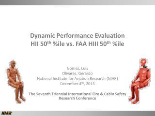 Dynamic Performance Evaluation  HII 50 th  % ile  vs. FAA HIII 50 th  % ile