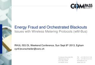 Energy Fraud and Orchestrated Blackouts Issues with Wireless Metering Protocols (wM-Bus)
