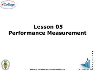 Lesson 05  Performance Measurement