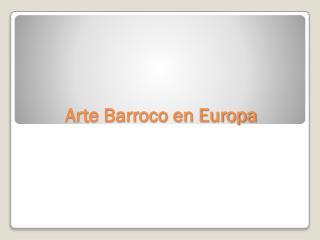 Arte Barroco en Europa