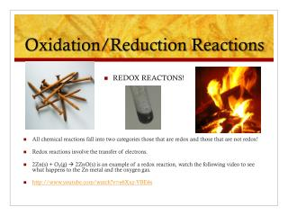 Oxidation/Reduction Reactions