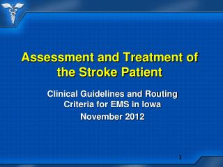Assessment and Treatment of the Stroke Patient