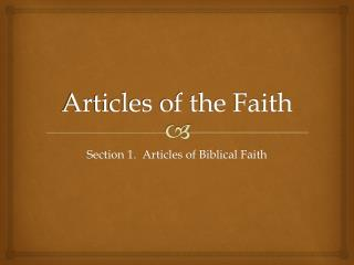 Articles of the Faith
